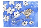 Poinsettia Bird Song Art Print