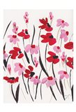 Pink and Red Field I Art Print