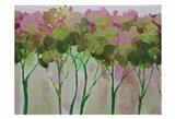Periwinkle Trees Art Print