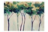 Creamy Trees Art Print