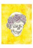 Skull with Rose Crown Art Print