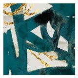 Teal Flare Square C Art Print