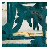 Teal Flare Square D Art Print
