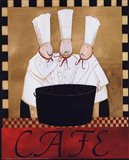 3 Chefs Soup Bistro 2 Art Print