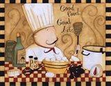 Good Food Good Life Art Print