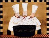 3 Chefs Tasting Art Print