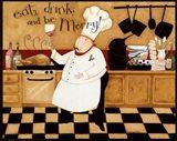 Eat, Drink & be Merry Art Print