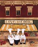 Love to Cook Market Art Print