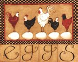 Eggs in a row Art Print