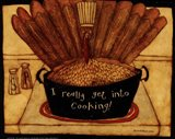 Get into cooking Art Print