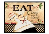 Eat Drink Be Merry Art Print