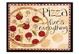 Pizza Fixes Everything Art Print