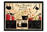 Give Thanks Good Food Art Print