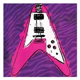 Girly Guitar Zoom Art Print