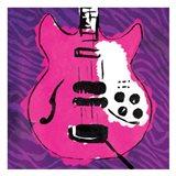 Girly Guitar Zoom Mate Art Print
