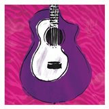 Girls Rule Guitar Zoom Art Print