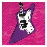 Girls Rule Guitar Zoom Mate Art Print