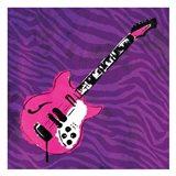 Girly Guitar Mate Art Print
