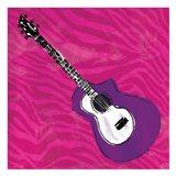 Girls Rock Guitar Art Print