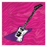 Girls Rock Guitar Mate Art Print