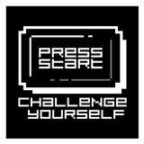 Challenge Yourself Black Art Print