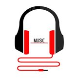 Headphones Music Art Print