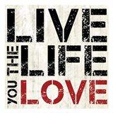 Live Love Art Print