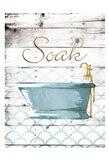 Soak Bath Art Print