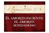Corintios El Amor Art Print