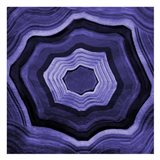 Agate rings Purple Art Print