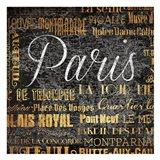 Paris Text Art Print