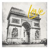 Paris Arch Yellow Art Print