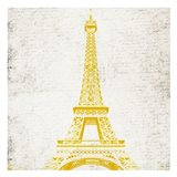Paris Eiffel Yellow Art Print