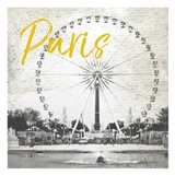 Roue De Paris Yellow Art Print
