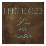 Love One Another Brown Art Print