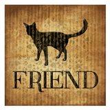 Friend (brown background) Art Print