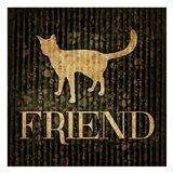Friend (black background) Art Print
