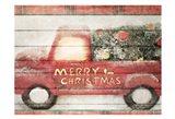 Merry Christmas Truck Art Print