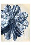 Indigo Marble Bloom 1 Art Print