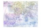Watercolor Map 2 Art Print