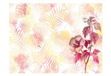 Hibiscus Palms Art Print