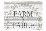 Farm to Table Wreath Art Print