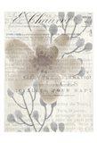 Vintage Floral Panel b Art Print