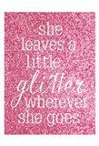She Glitter Art Print