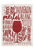 Wine Types Art Print