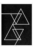 Black Triangle Art Print