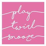 Play Twirl Snooze PINK Art Print