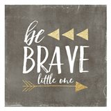 Be Brave Glitter Art Print