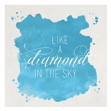 Diamond Sky Blue Art Print