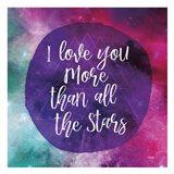 Starry Loved Art Print